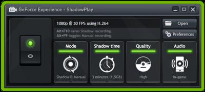 Nvidia Geforce Shadow Play