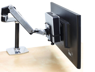 ergotron support mini pc vesa 80 107 200 bras support cran pc ergotron sur. Black Bedroom Furniture Sets. Home Design Ideas