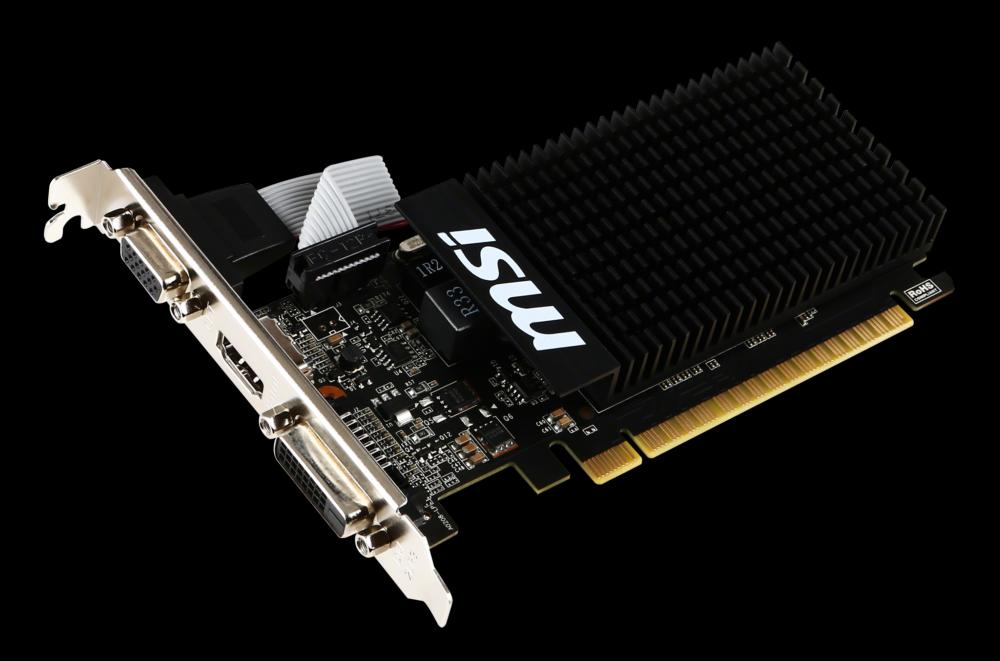 msi carte graphique geforce gt 710 1go ddr3 MSI GeForce GT 710   1 Go   Carte graphique MSI sur Materiel.net