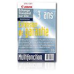 Canon Extension de garantie série MP / MG / MX et MPC