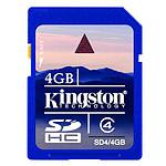 Kingston SDHC 4 Go (classe 4)
