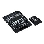 Kingston Micro SDHC 8 Go Class 4 + adaptateur SD