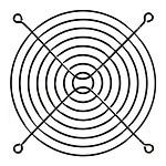 Grille ventilateur noir - 140 mm