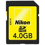 Nikon Carte SDHC 4 Go Classe 6