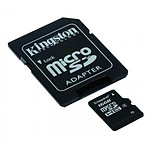 Kingston Micro SDHC 16 Go Class 4 + adaptateur SD