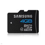 Samsung Micro SDHC 4 Go + adaptateur SD (Classe 4)
