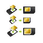 Pack 3 adaptateurs carte micro et nano SIM
