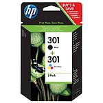 HP Combo Pack n°301 - CR340EE B/C/M/J