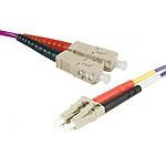 Câble fibre optique LC/SC duplex 50/125 OM3 - 2 m