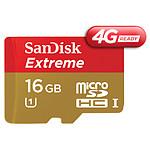 Sandisk Mobile Extreme microSDHC 16 Go 4G (45Mo/s)