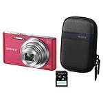 Sony CyberShot DSC-W830 Rose Pack (housse + carte SD)