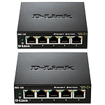D-Link Pack de 2 switchs DGS-105