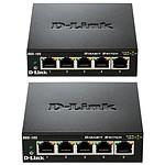 D-Link Pack de 2 switchs DGS-105