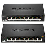 D-Link Pack de 2 switchs DGS-108