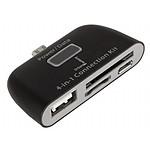 Urban Factory Adaptateur universel Micro USB vers USB + SD Card