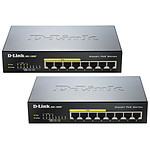 D-Link Pack 2 switchs DGS-1008P - 8 Ports POE
