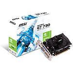 MSI GeForce GT 730 - 2 Go (N730-2GD3)