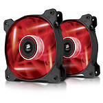Corsair SP 140 High Static Pressure LED Rouge - Dual pack