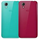 Wiko Lot de 2 coques (fuschia/turquoise) - Wiko Sunset