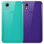 Wiko Lot de 2 coques (violet / turquoise) - Wiko Sunset
