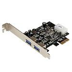 StarTech.com Carte Contrôleur PCI Express vers 2 Ports USB 3.0