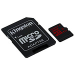 Kingston Micro SDHC 32 Go UHS-I U3 (90Mo/s) + adaptateur SD