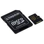 Kingston micro SDXC 64 Go (90 Mo/s) + adaptateur SD