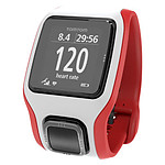 TomTom Montre GPS Runner Cardio (blanc/rouge)