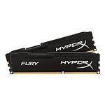 HyperX Fury Black DDR4 2 x 4 Go 2400 MHz CAS 15