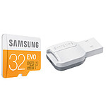 Samsung Evo Micro SDHC 32 Go (48Mo/s) + adaptateur USB