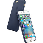 Apple Coque Leather Case iPhone 6s - bleu nuit