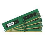 Crucial 64 Go (4 x 16 Go) DDR4 2400 MHz CL17 DR