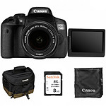 Canon EOS 750D + 18-55 IS + Sacoche + carte SD