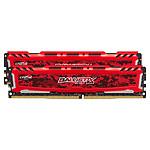 Ballistix Sport LT RED DDR4 2 x 4 Go 2400 MHz CAS 16 SR