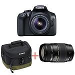 Canon EOS 1300D +18-55 IS + Tamron 70-300 + Sacoche