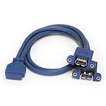 StarTech.com Rallonge USB 3.0 interne / 2ports sur panneau