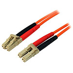 Câble fibre optique LC/LC duplex 50/125 - 1 m
