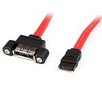 StarTech.com Câble eSATA à montage sur panneau 30 cm - F/M
