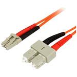 Câble fibre optique CL/SC duplex 62,5/125 - 3 m