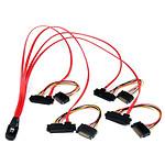 StarTech.com Câble SAS SFF-8087 / 4 x SFF-8482 et SATA - 50 cm
