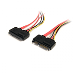 StarTech.com Câble SATA données et alimentation (M/F)- 30 cm