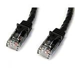 StarTech.com Cable reseau Cat6 Gigabit UTP de 50cm - M/M - Noir