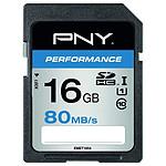 PNY Performance SDHC 16 Go (80Mo/s)