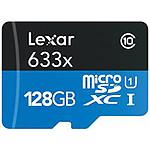 Lexar micro SDXC 128 Go (45Mo/s) + adaptateur SD