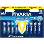 Varta Piles Alcaline High Energy AAA LR03 (par 8)