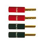 Real Cable Lot de 4 Fiches banane - BFA 6020