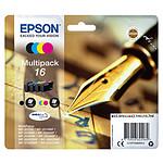 "Epson Multipack 16 XL (BK/C/M/J) ""Stylo à plume"""