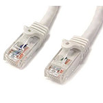StarTech.com Câble Ethernet RJ45 Cat 6 UTP Blanc - Snagless 2 m