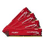 HyperX Fury Red DDR4 4 x 16 Go 2400 MHz CAS 15