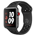 Apple Watch Series 3 Nike+ (gris sidéral - anthracite/noir) - Cellular - 38 mm